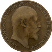 1902 to 1910 Edward VII Penny Grades from fair to Fine